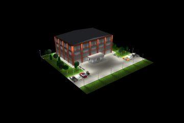 Проектирование и визуализация наружного освещения